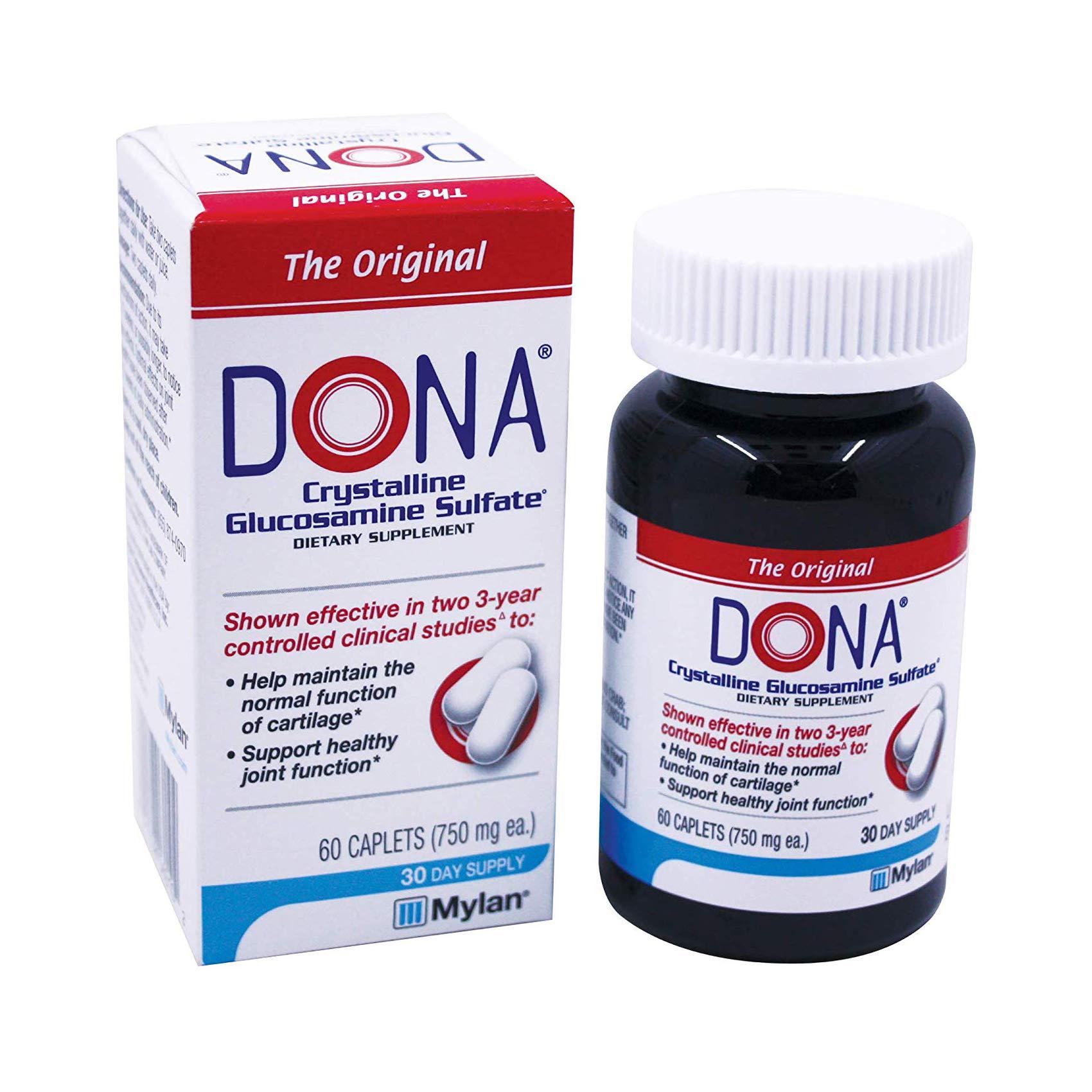 Dona Crystalline Glucosamine Sulfate, 750 Mg, 60 Count by DONA