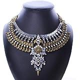 NYKKOLA 18K Gold Plated Crystal Necklace...