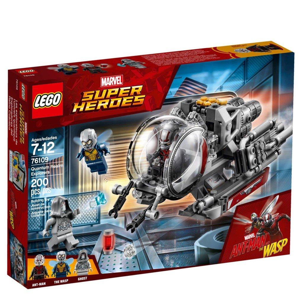 76109 LEGO Super Heroes Exploradores del Reino Cu/ántico Ant-Man y Ghost juguete de construcci/ón incluye minifiguras de La Avispa