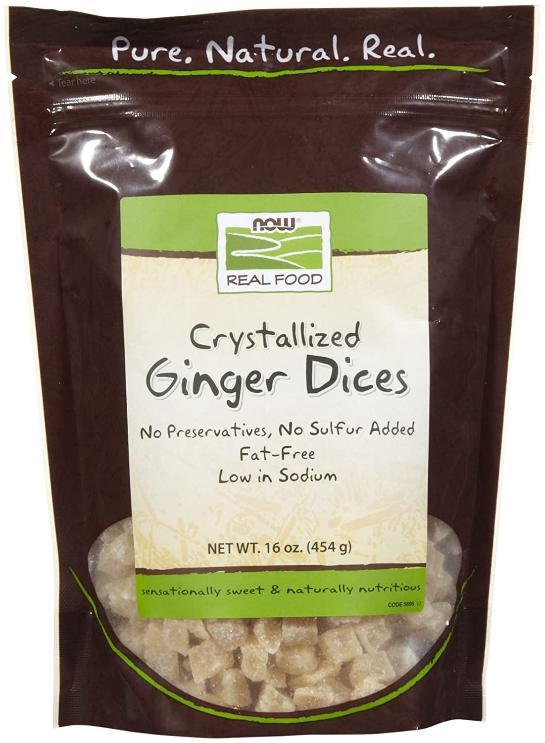 Now Foods Crystallized Ginger Dices - 1 lb