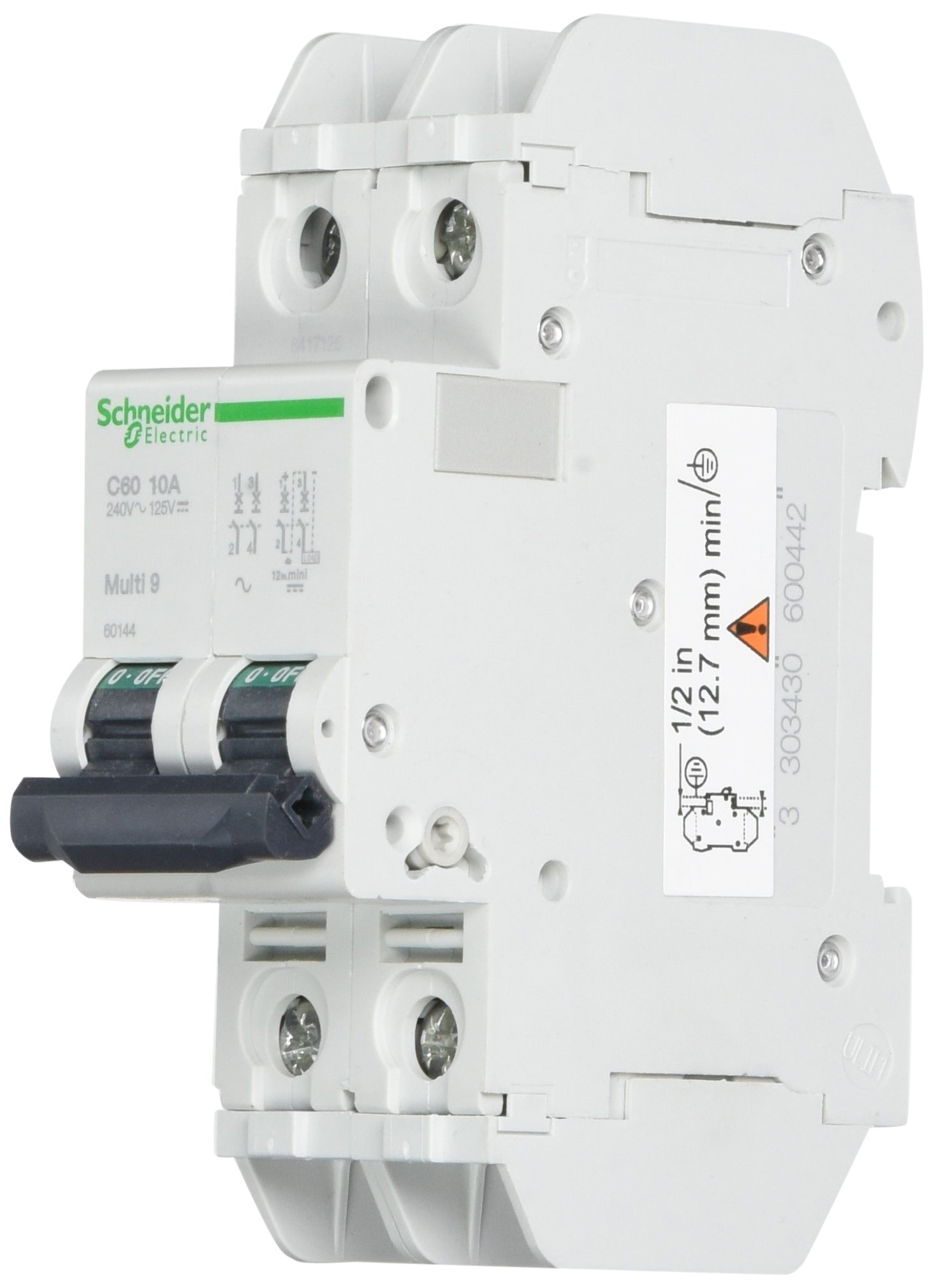 SCHNEIDER ELECTRIC 60144 Miniature Circuit Breaker 240-Volt 10-Amp