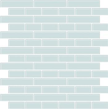 In Home NH2361 Sea Glass Peel & Stick Backsplash Tiles