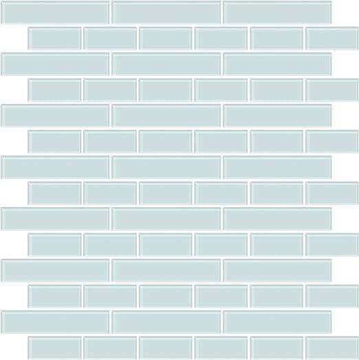 Amazon Com In Home Nh2361 Sea Glass Peel Stick Backsplash Tiles