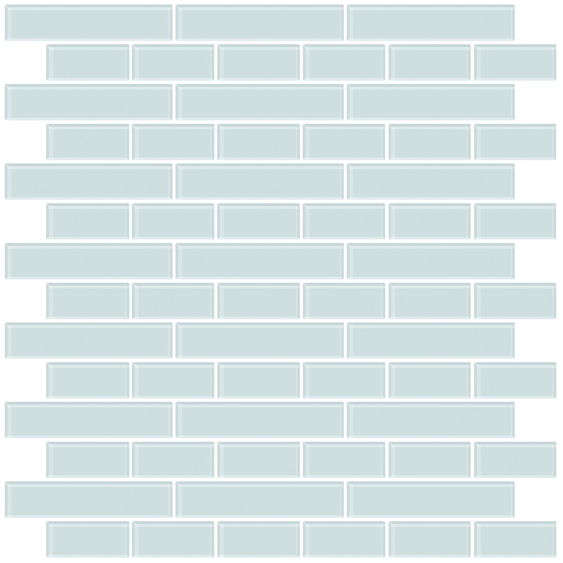In Home NH2361 Sea Glass Peel & Stick Backsplash Tiles, Blue by In Home