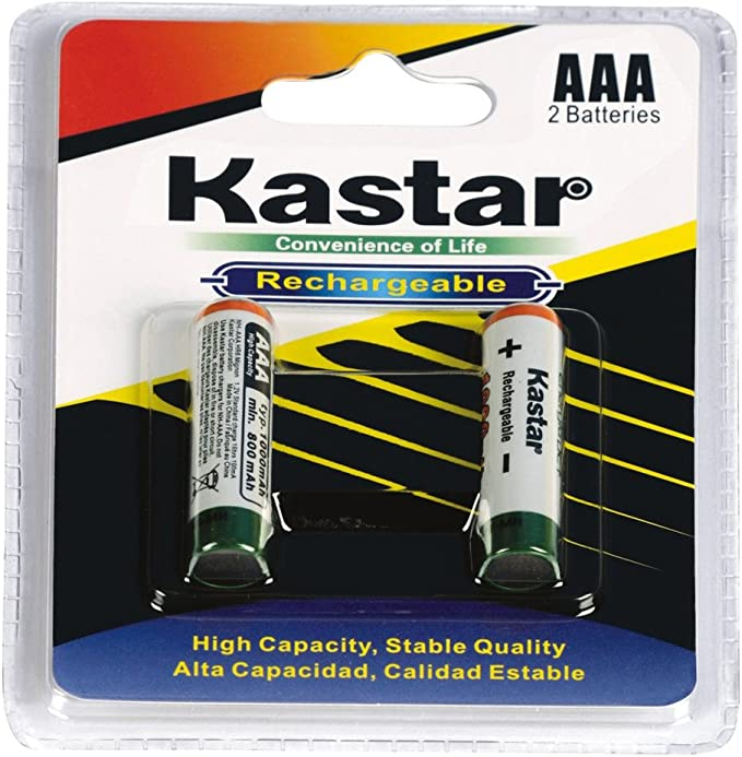 Kastar AA 4-Pack Charger Bundle Pack for AA and AAA Rechargeable Batteries