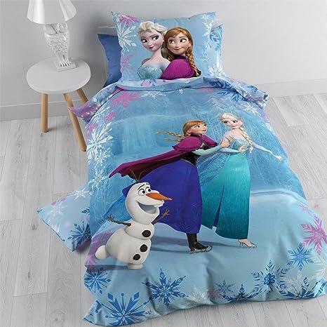Amazon Funda Nordica Frozen.Frozen Duvet Set Anna Elsa Olaf On Ice 140 X 200 Cm Amazon Co Uk
