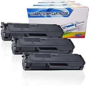 Inktoneram Compatible Toner Cartridges Replacement for Dell B1160 B1160w 331-7335 B1163w B1160 B1160w B1165nfw ([Black], 3-Pack)