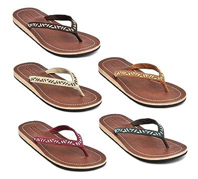 Amboss Damen Sandale Zehentrenner mit Echt Leder Gr.37 Farbe Gelb V0aoqR9