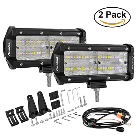 Amazon led light bar autofeel 7 inch white led work light spot led light bar autofeel 7 inch white led work light spot flood beam light bar aloadofball Image collections