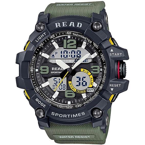 Leer de los Hombres de la Marca Deporte Reloj Alarma Militar ...