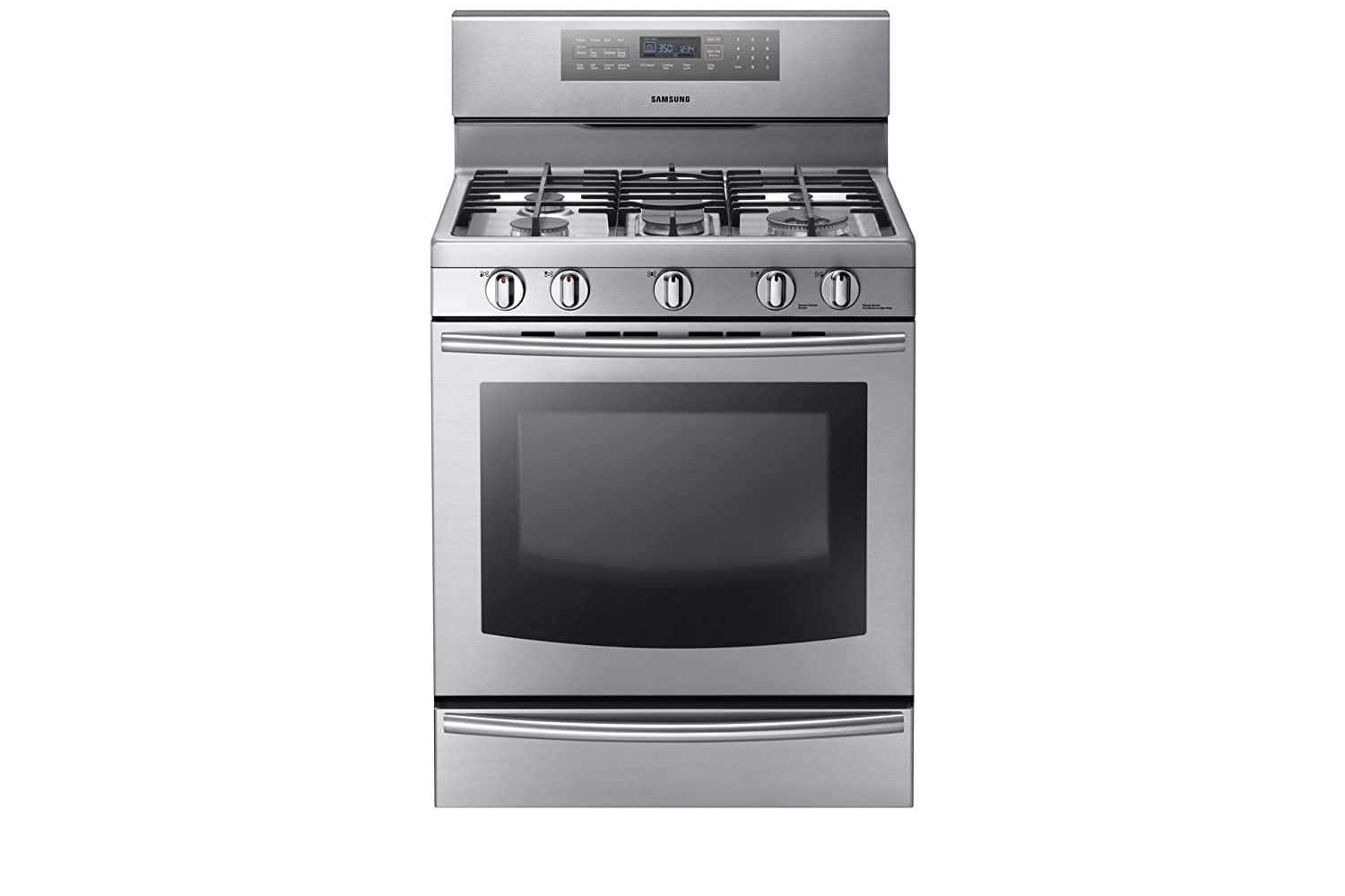 amazoncom samsung nx58f5700ws stainless steel gas range with true convection appliances