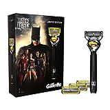 Gillette Fusion ProShield Men's Razor Gift Set Justice League Limited Edition + 3 Blade Refills