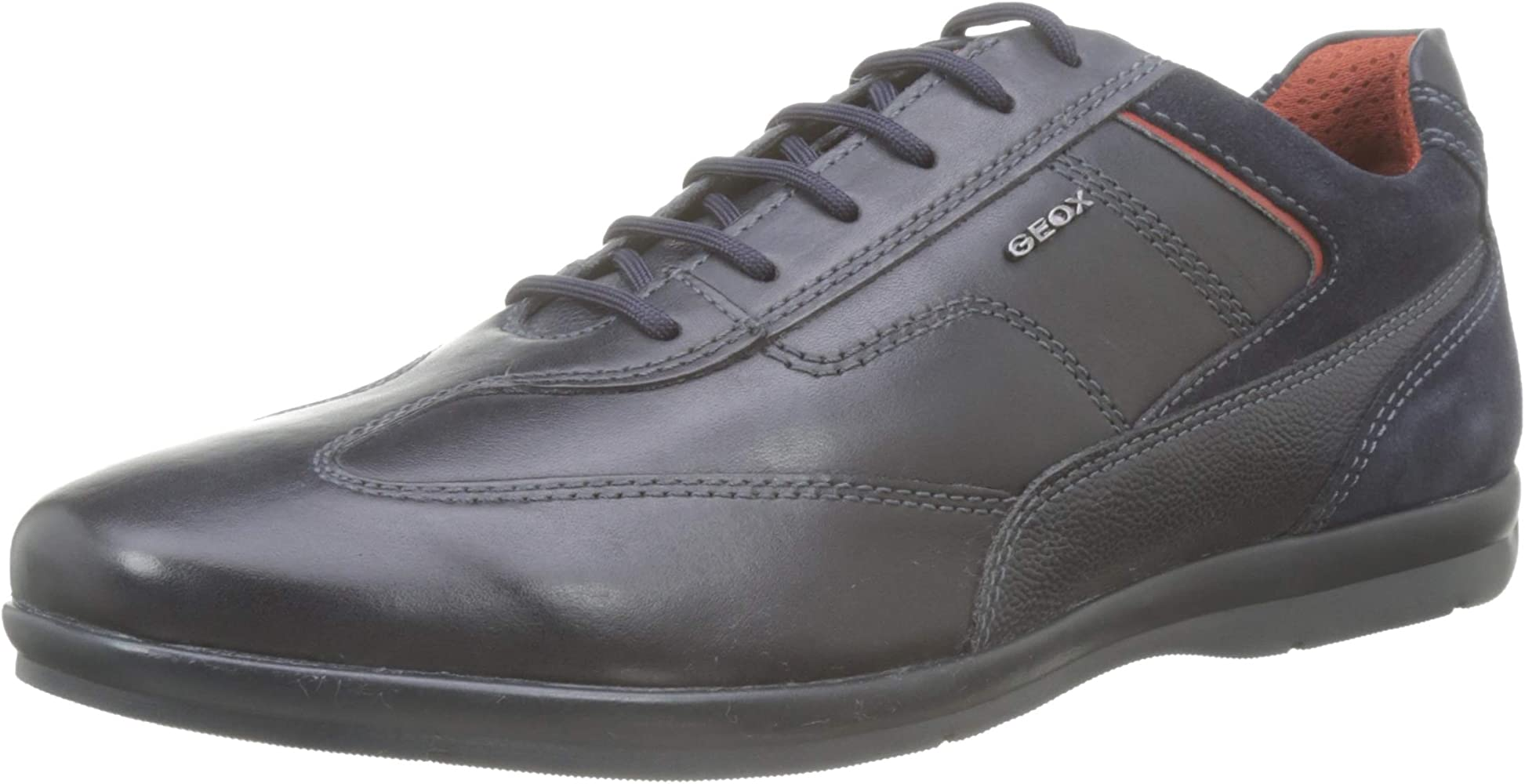 Geox U Adrien B, Scarpe Stringate Oxford Uomo, Blu (Navy C4002), 44 E