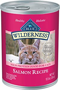 Blue Buffalo Wilderness High Protein Grain Free Natural Adult Pate Wet Cat Food, Salmon 12.5-oz (pack of 12)