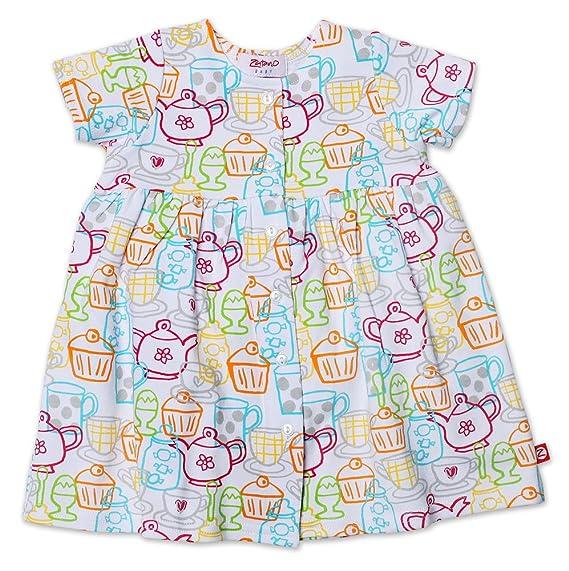 Zutano Baby Girls Cups And Cakes Short Sleeve Dress