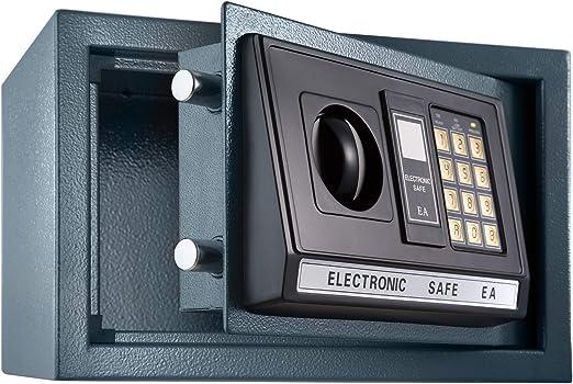 TecTake Caja Fuerte electrónica Pared Safe Caja de Seguridad Mini ...