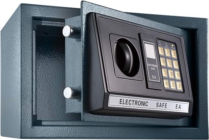 TecTake Caja Fuerte electrónica Pared Safe Caja de Seguridad Mini Hotel Seguro + Llave (20x31x22cm | No. 400564): Amazon.es: Hogar
