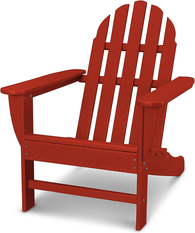 POLYWOOD AD4030CR Classic Adirondack Chair, Crimson Red