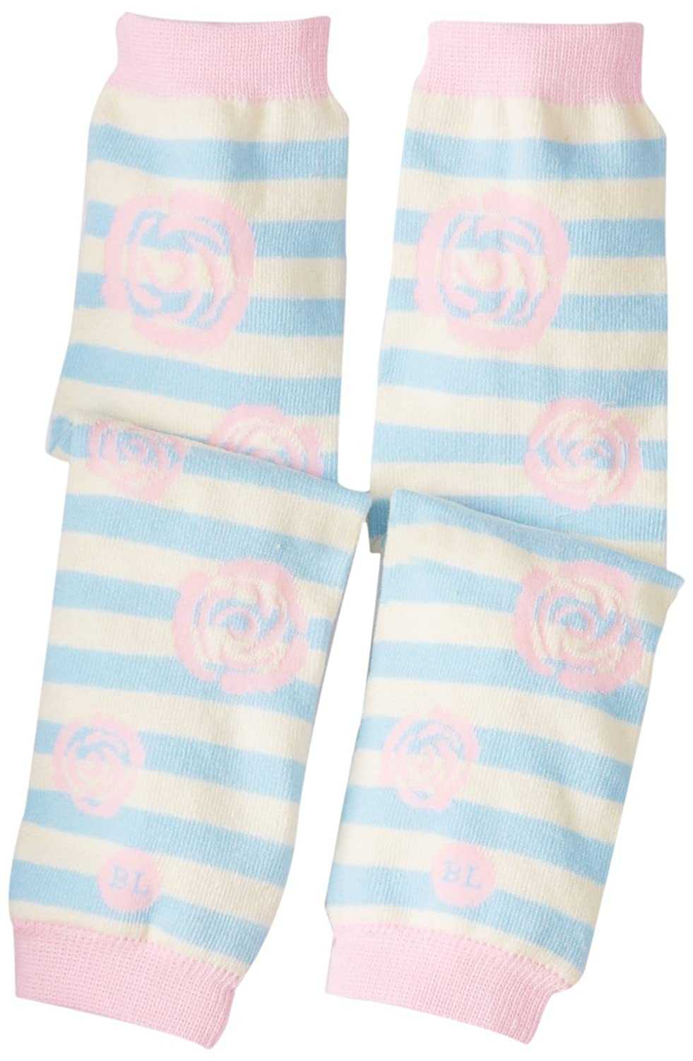 BabyLegs Baby-Girls Infant Rosette, Blue/Pink, One Size BL13-0063