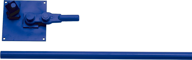 Ausonia plaque piegaferro-Acier lourd trempé verni avec Manche rétractable à tube de diamètre 24 mm max