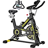 PYHIGH Indoor Cycling Bike Stationary Exercise Bike, Comfortable Seat Cushion, Ipad Holder with LCD Monitor for Home Cardio W