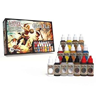 The Army Painter Guildball Miniature Paints, Army Paint Set of 16 Dropper Bottle Paints for Miniatures from Guild Ball Board Game - Guild Ball Kick Off Paint Set: Toys & Games