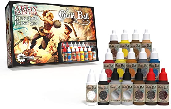 The Army Painter | Warpaints Guild Ball | Kick Off! Paint Set | 16 Acrylic Paints and Free Painting Guide for Painting CMON Rising Sun Fantasy Miniatures: Amazon.es: Juguetes y juegos