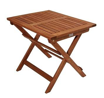 Kinder Gartentisch Ulla 60x45cm Eukalyptusholz Klappbar Amazon De