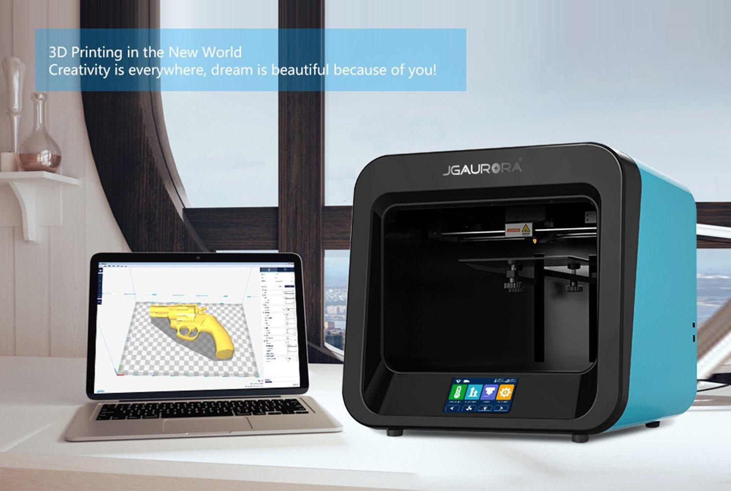 Jgaurora Impresora 3D, A4, extrusor individual, para PLA/TPU ...