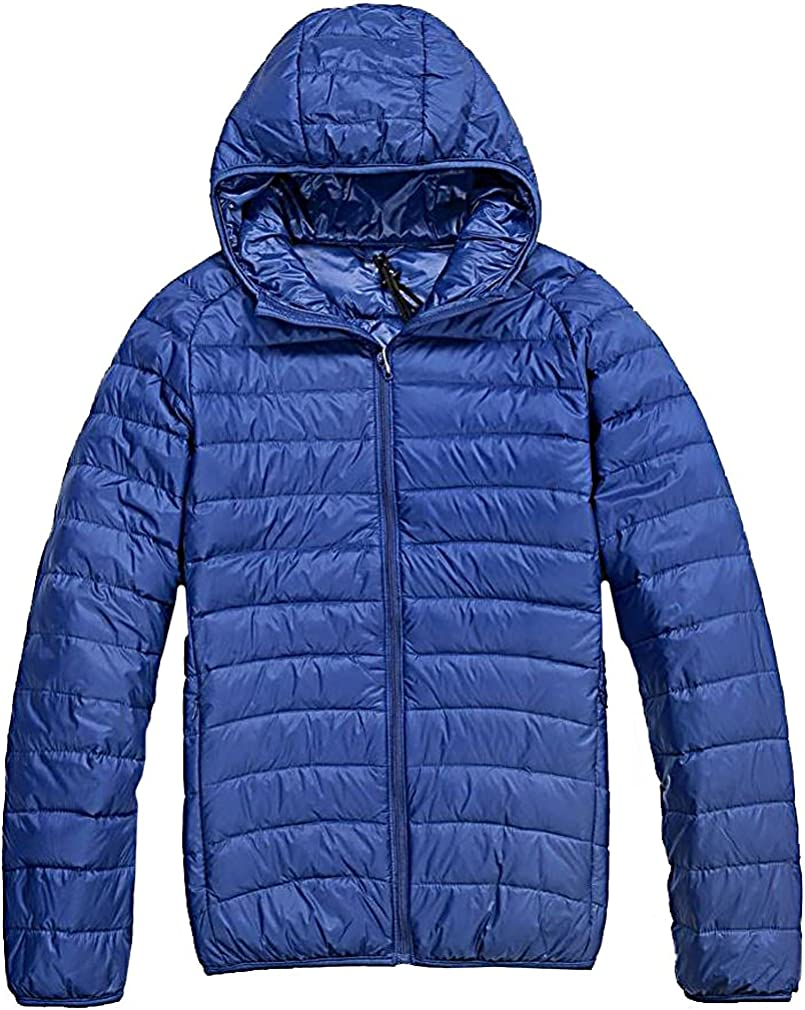DeepBlue X-Large CELINO Mens Casual Padded Hooded Portable Jacket Full Zip Light Weight Autumn