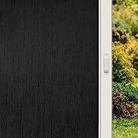 KESPEN Total Blackout Silk Window Film Privacy Static Cling, Anti-UV Room Darkening Glass Tint 100% Light Blocking…