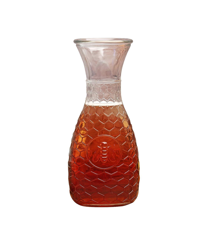 1 Liter Glass Water Drink Pitcher Carafe Circleware Garden Gate Honey Bee