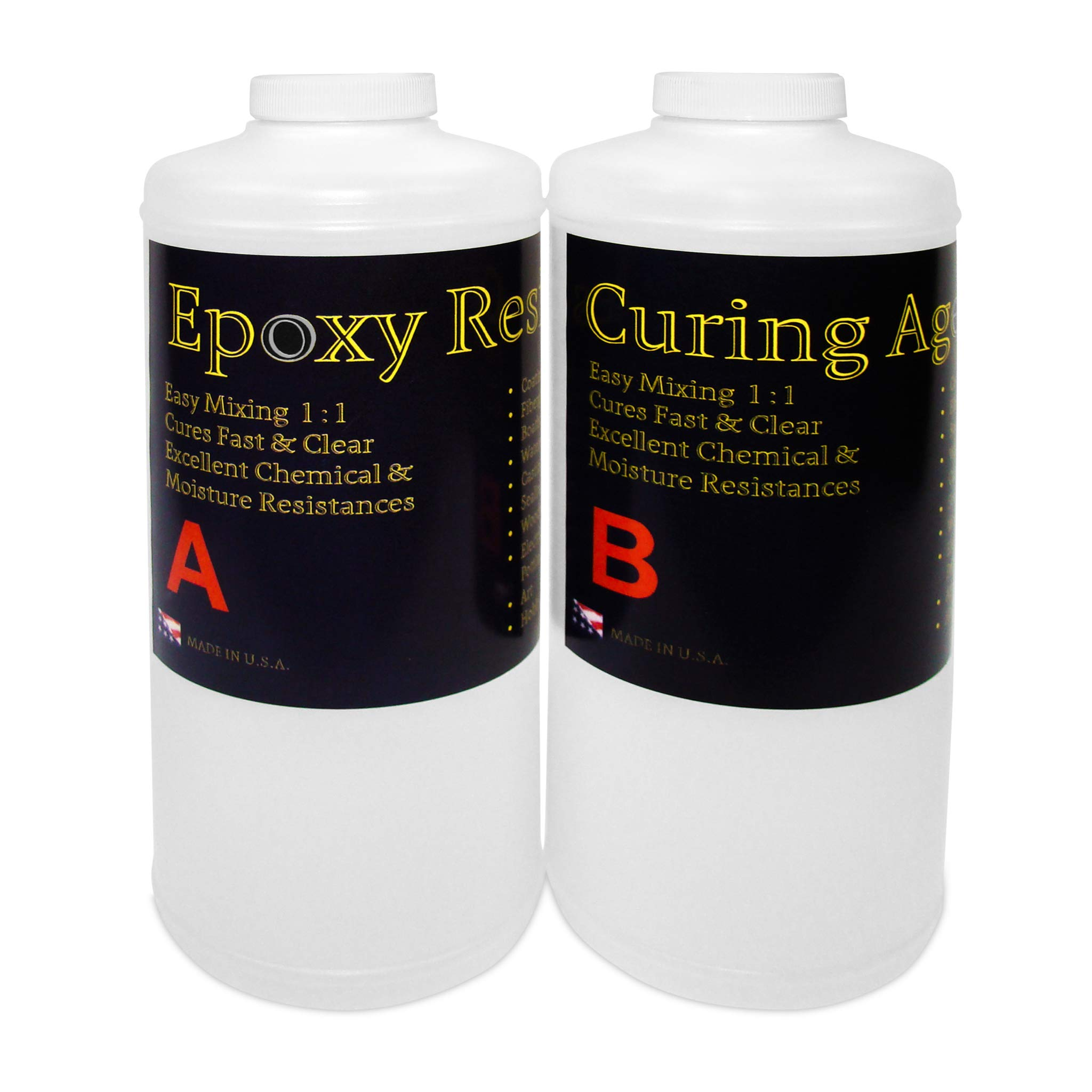 Clear Epoxy Resin for Table Tops, Bars, Fiberglass, Concrete - Professional Grade High Gloss Finish Multi-Purpose Resin - 2 Gallon Kit by Epoxy Resin (Image #4)