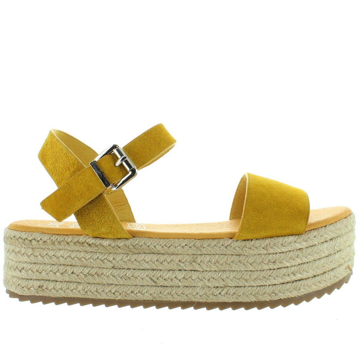Coolway Mini - Mustard Espadrille Platform Sandal B07C58B6S9 37 M EU Sand