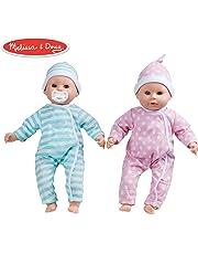 Melissa & Doug Mine to Love Twins Luke & Lucy Dolls (Pretend Play, Baby Dolls, 38.1 cm)