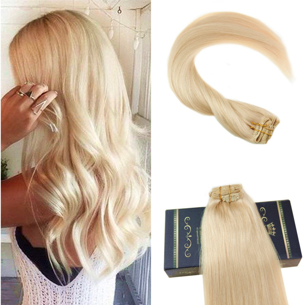 Ugeat 18 Straight Clip in Extensions Full Head Clip in Hair #2 Solid Color Darkest Brown Salon Qulity Thick End Clip Hair Extensions 7 Pieces 120 Gram per Package Weihai Ugeat Hair