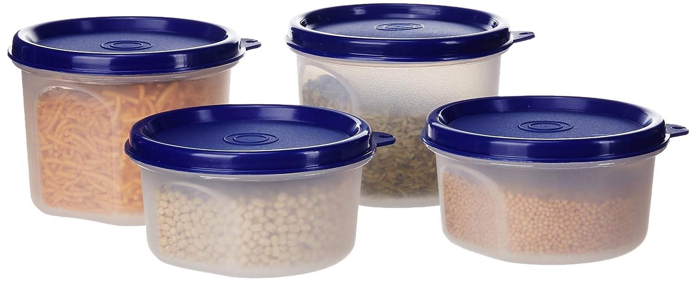 Round Plastic Container, Set of 4