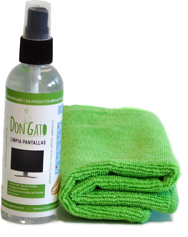 DON GATO - Limpia Pantallas + Paño Microfibras (100ml) para ...