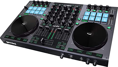 side facing gemini g4v professional dj controller