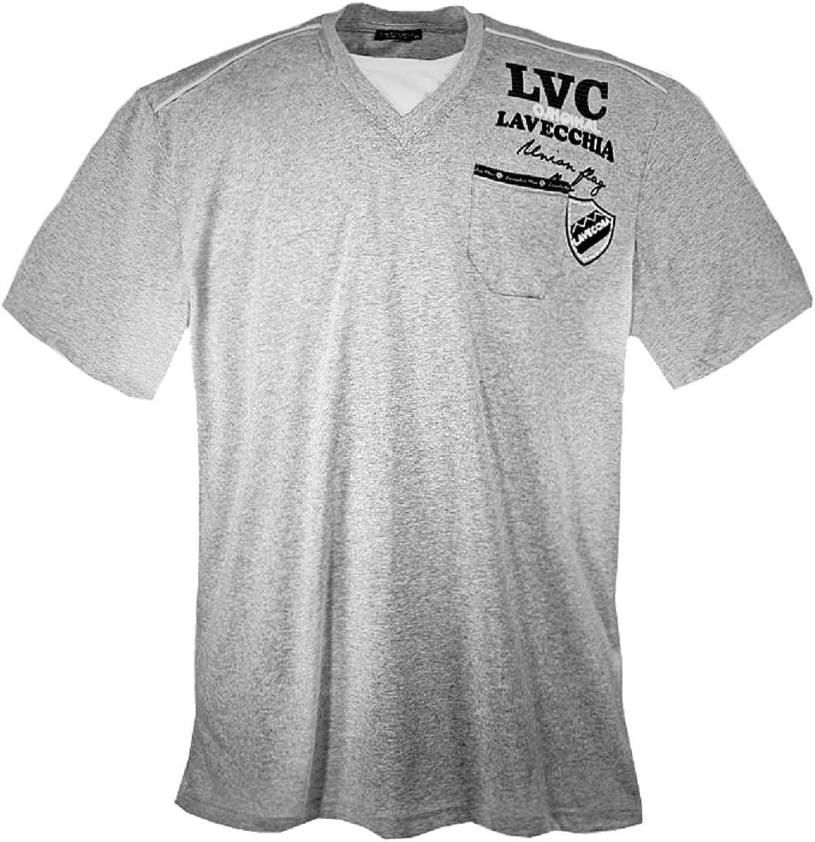 Lavecchia - Camiseta - para Hombre Gris XXXXXXL: Amazon.es: Ropa y accesorios