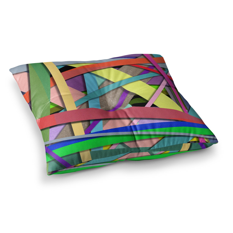 Kess InHouse Ivan Joh Color Mood Coral Purple Illustration 23 x 23 Square Floor Pillow