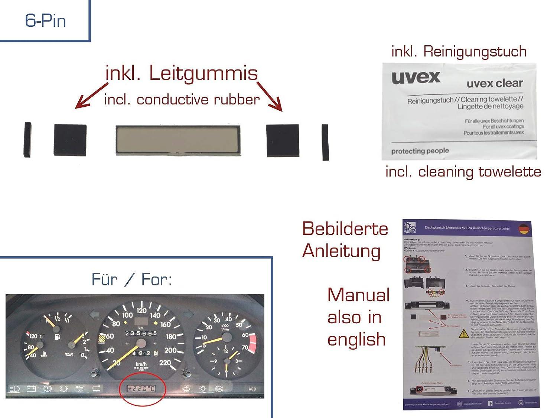 gearworks Display Reparaturset f/ür E//W124 Temperaturanzeige Reparatur