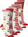 Sock Snob - 6, 12, 24 pares mujer rojo y blanco calcetines de navidad 37-42 eur