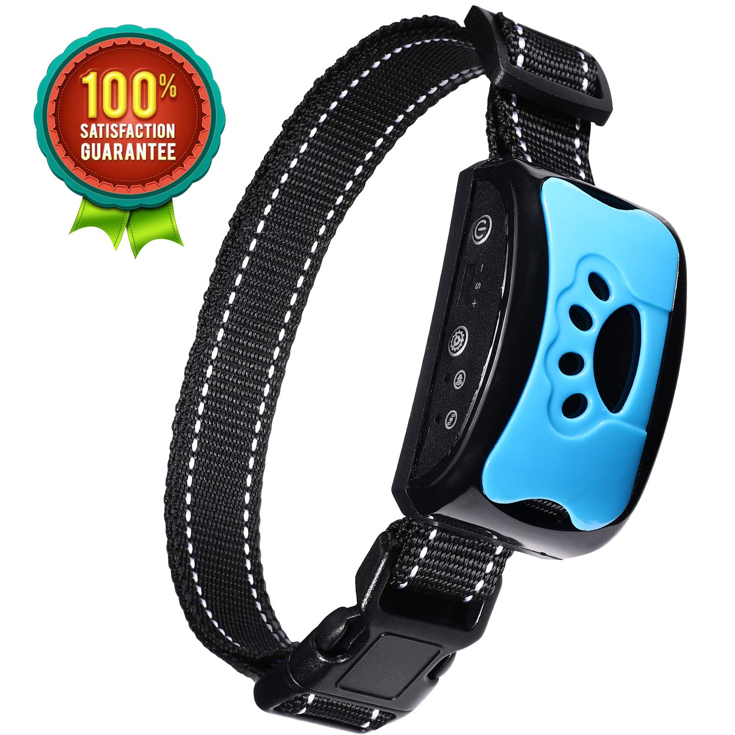 BOBOO Bark Collar [2019 Superhuman CHIP] Best for Small Medium Large Dogs, Most Effective Anti Bark Device 7 Sound and Vibro Modes, No Harmful Shock, No Pain for a Dog, Hypoallergenic by BOBOO