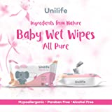 Unilife Baby Wet Wipes Without Parabens and Alcohol (White) - Pack of 5 x 80 Wipes