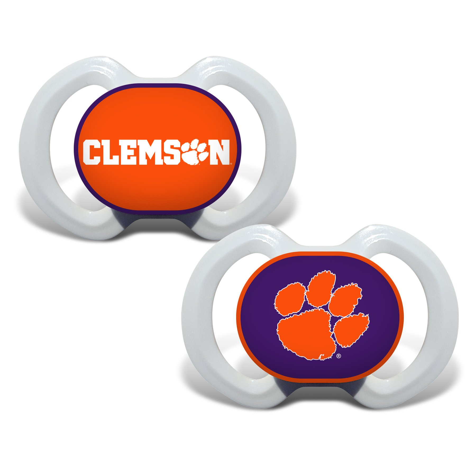 Baby Fanatic Pacifier with Clip Auburn University