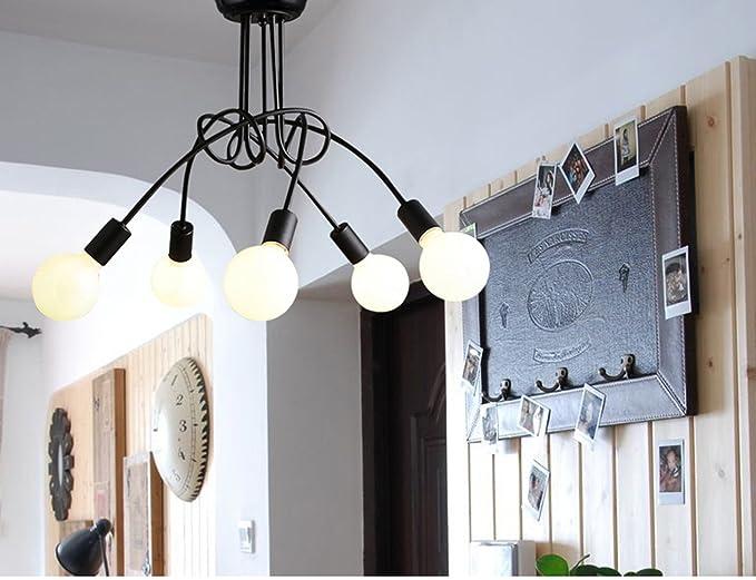 Amazon.com: garwarm clásico – Lámpara de techo (3 luces luz ...