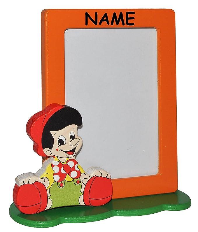 Bilderrahmen / Fotorahmen aus Holz incl. Name - Pinocchio - kleiner ...