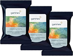 genneve Feminine Wipes (90 Count), Cleansing Cloths for Women, Ultra-Gentle and Moisturizing for Sensitive Skin, All-Natural for Your Intimate Area, pH-Balanced, Free of Parabens and Fragrance