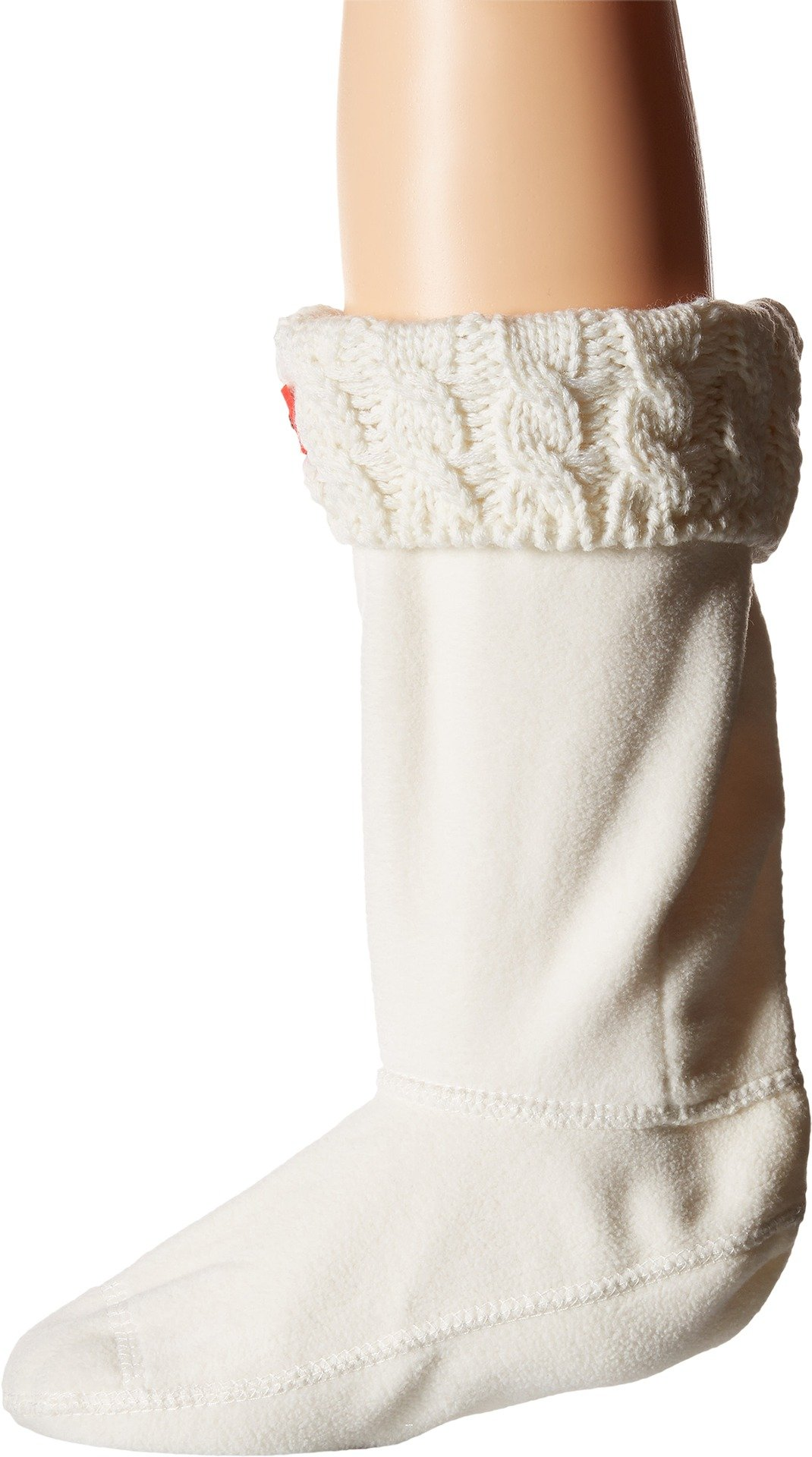 Hunter Girls Kids 6stitch Cable Sock, Natural White, 1 Youth